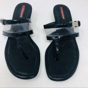 Authentic Prada T- Strap Sandals